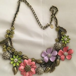 Joan Rivers colorful flower necklace 25anniversary